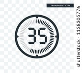 the 35 minutes vector icon... | Shutterstock .eps vector #1138305776