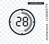 the 28 minutes vector icon... | Shutterstock .eps vector #1138305779