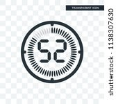 the 52 minutes vector icon... | Shutterstock .eps vector #1138307630