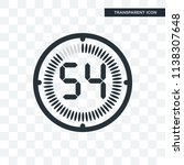 the 54 minutes vector icon... | Shutterstock .eps vector #1138307648