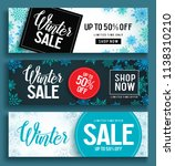 winter sale vector banner set... | Shutterstock .eps vector #1138310210