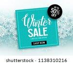winter sale vector banner... | Shutterstock .eps vector #1138310216