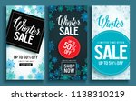 winter sale vector poster... | Shutterstock .eps vector #1138310219