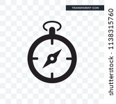 compass vector icon isolated on ... | Shutterstock .eps vector #1138315760