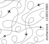 plane traces. seamless aerial... | Shutterstock .eps vector #1138315883