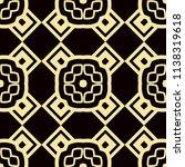 art deco pattern. seamless... | Shutterstock .eps vector #1138319618