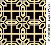 art deco pattern. seamless... | Shutterstock .eps vector #1138319708