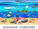vectors illustration ocean... | Shutterstock .eps vector #1138322063