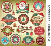 collection of vintage retro... | Shutterstock .eps vector #113832208