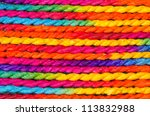 colorful of rope background | Shutterstock . vector #113832988