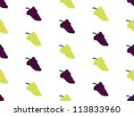 grapes background seamless... | Shutterstock .eps vector #113833960