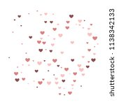 romantic background with hearts. | Shutterstock .eps vector #1138342133