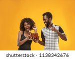 the afro couple or happy young... | Shutterstock . vector #1138342676