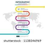 6 steps business infographic....   Shutterstock .eps vector #1138346969