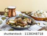 lamb shank rice and buttermilk... | Shutterstock . vector #1138348718