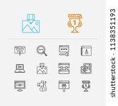 optimization icons set. seo...