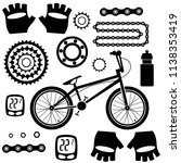 bicycles. set of isolated... | Shutterstock .eps vector #1138353419