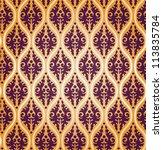 vintage vector floral damask... | Shutterstock .eps vector #113835784