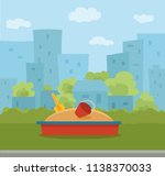 kid s playground colorful... | Shutterstock .eps vector #1138370033
