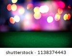 empty poker table in the casino.... | Shutterstock . vector #1138374443