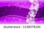 winter frame with ultra violet... | Shutterstock .eps vector #1138378100