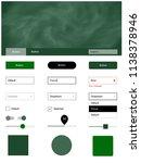dark green vector web ui kit...