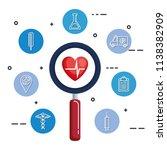 cardiology heart healthcare... | Shutterstock .eps vector #1138382909