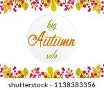 big autumn sale vector... | Shutterstock .eps vector #1138383356