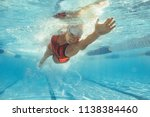 underwater shot of female... | Shutterstock . vector #1138384460