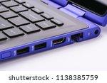 modern blue laptop with... | Shutterstock . vector #1138385759