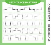 tracing lines activity for... | Shutterstock .eps vector #1138385870