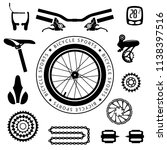 bicycles. set of isolated... | Shutterstock .eps vector #1138397516