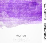 painted purple watercolor... | Shutterstock . vector #1138399796