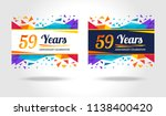 59 years anniversary colorful... | Shutterstock .eps vector #1138400420