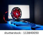 reel of film on the background... | Shutterstock . vector #113840050