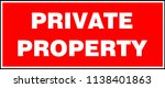 private property sign. vector... | Shutterstock .eps vector #1138401863