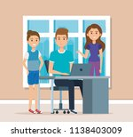 young people in the workplace... | Shutterstock .eps vector #1138403009