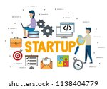 business people with start up... | Shutterstock .eps vector #1138404779