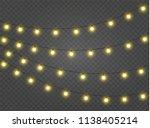 christmas lights isolated... | Shutterstock .eps vector #1138405214