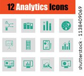 analytics icon set. green on... | Shutterstock .eps vector #1138409069