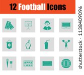 american football icon. green... | Shutterstock .eps vector #1138409096