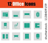 office furniture icon set.... | Shutterstock .eps vector #1138409159