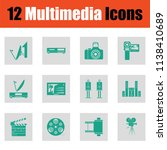 set of multimedia icons. green... | Shutterstock .eps vector #1138410689