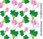 radishes seamless background | Shutterstock .eps vector #1138412426