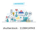 data protection  internet... | Shutterstock . vector #1138414943