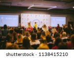conference. people in the... | Shutterstock . vector #1138415210