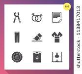 modern  simple vector icon set... | Shutterstock .eps vector #1138417013