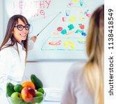 doctor nutritionist  dietician... | Shutterstock . vector #1138418549