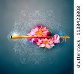 lord krishna indian god... | Shutterstock .eps vector #1138423808