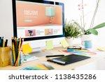 graphic design studio... | Shutterstock . vector #1138435286